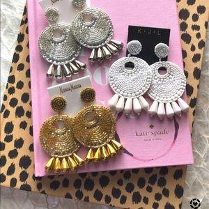Kennneth Jay lane earrings gold pair